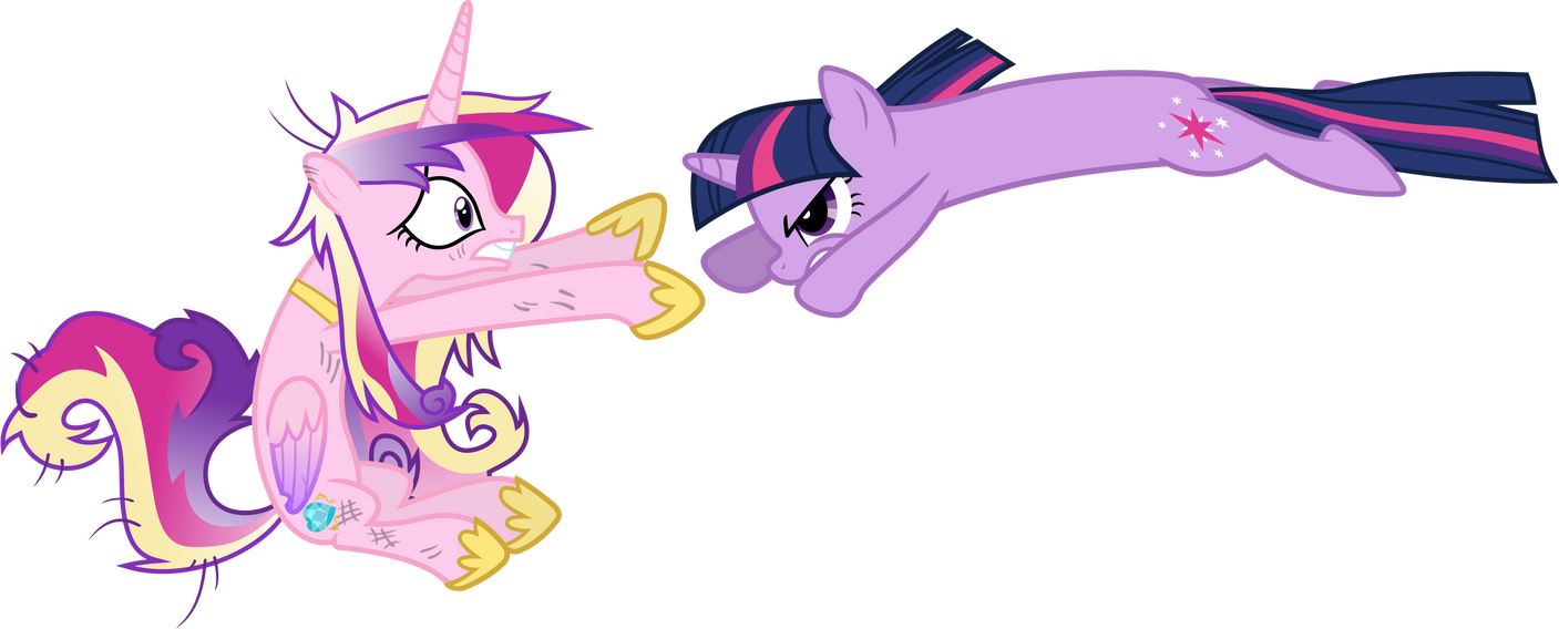 Twilight Sparkle Attacks Princess Cadance by 90Sigma on ...