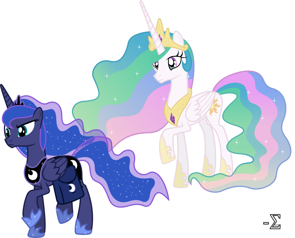 Princess Luna Forsakes Princess Celestia By 90Sigma On ...