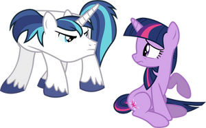Shining's and Twilight's First Fight by 90Sigma