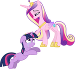 Princess Cadance Comforts Twilight Sparkle