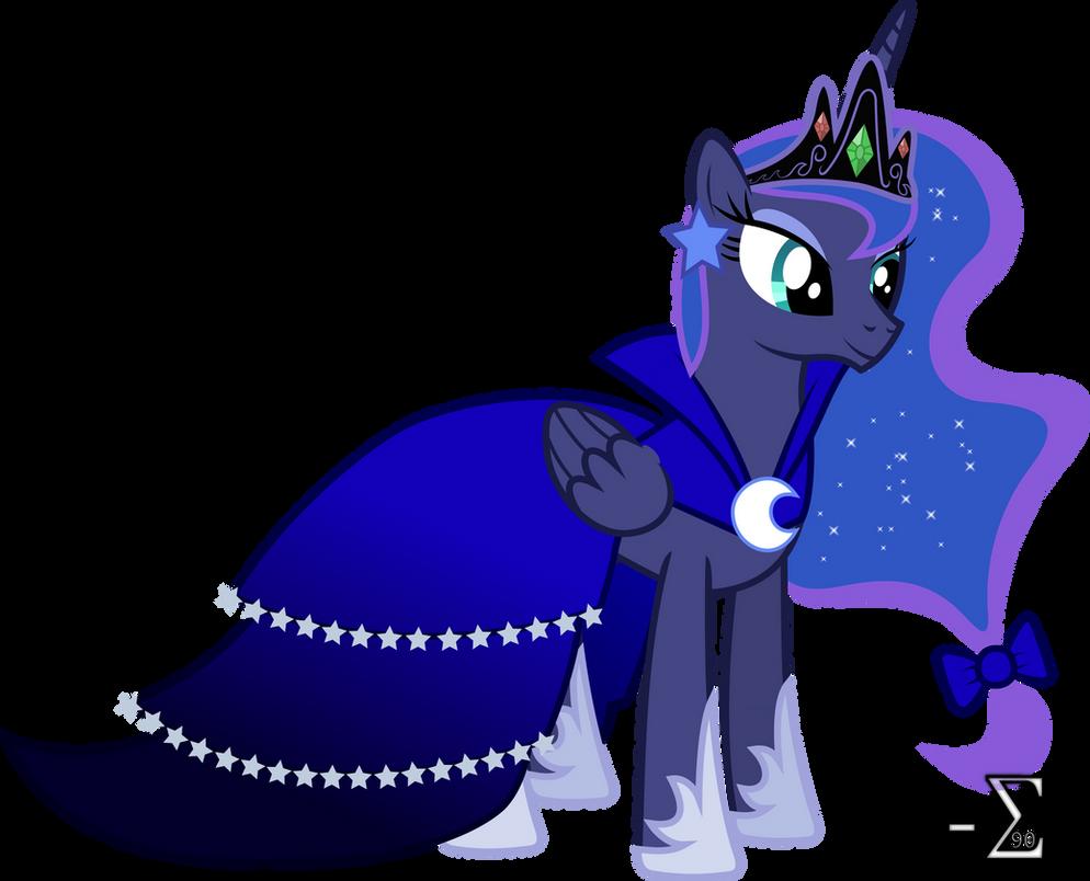 Princess Luna S Gala Dress By 90sigma On Deviantart
