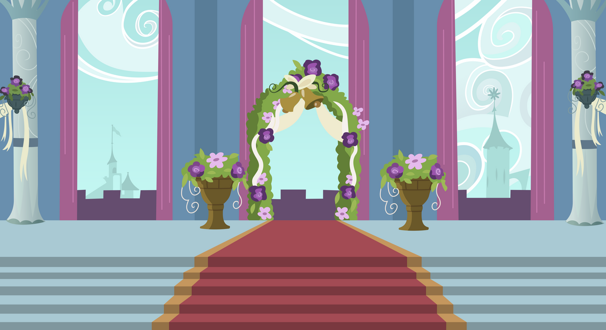 background canterlot wedding altar by 90sigma on deviantart