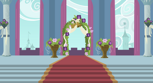 Background: Canterlot Wedding Altar by 90Sigma