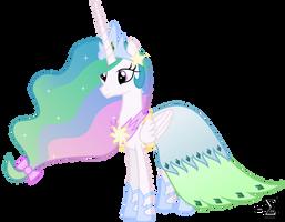 Princess Celestia's Gala Dress by 90Sigma