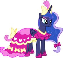 Princess Luna's Dress (Rarity's Version) by 90Sigma