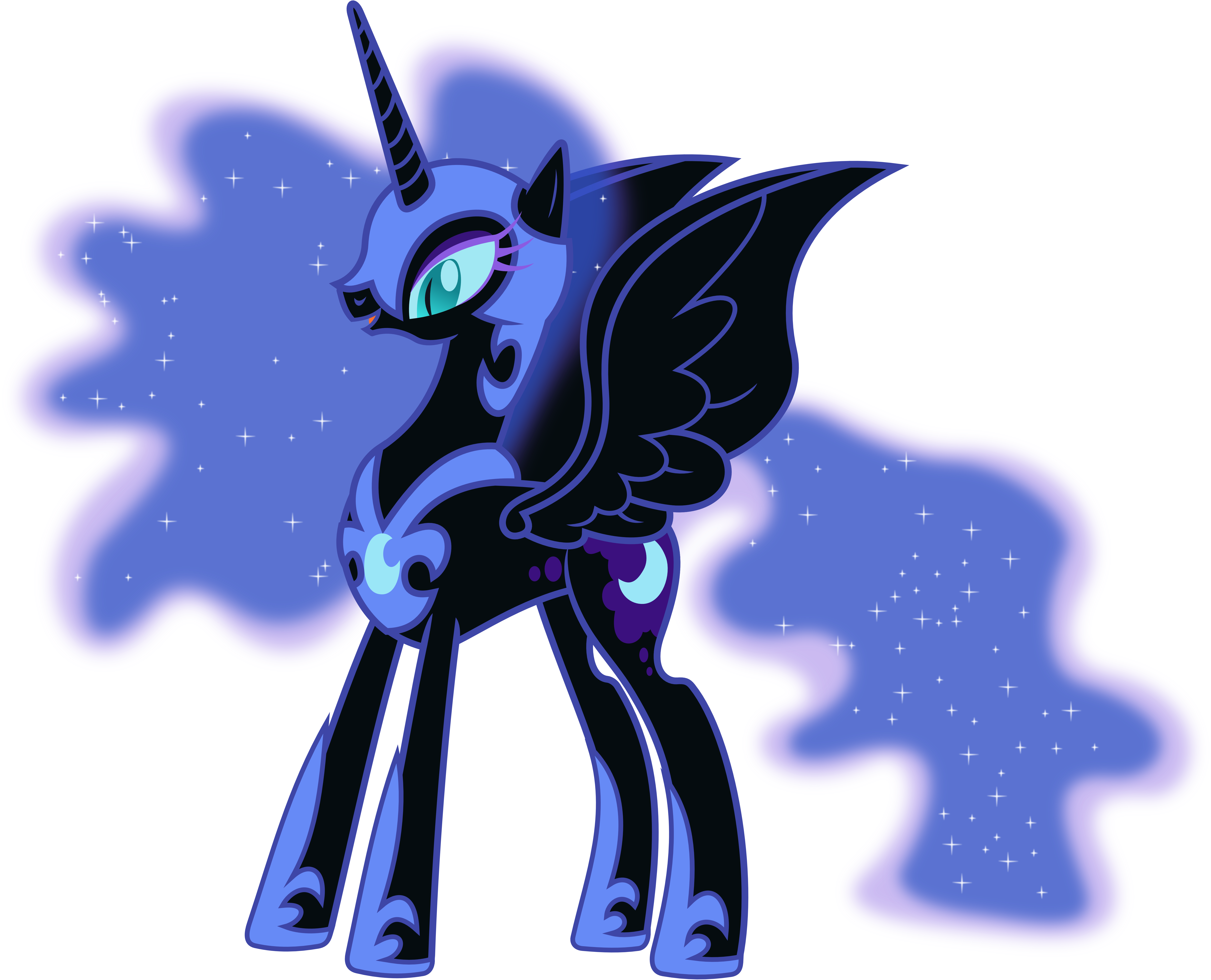 Happy Nightmare Moon by 90Sigma on DeviantArt