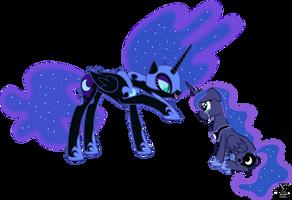 Nightmare Moon Torments Princess Luna by 90Sigma