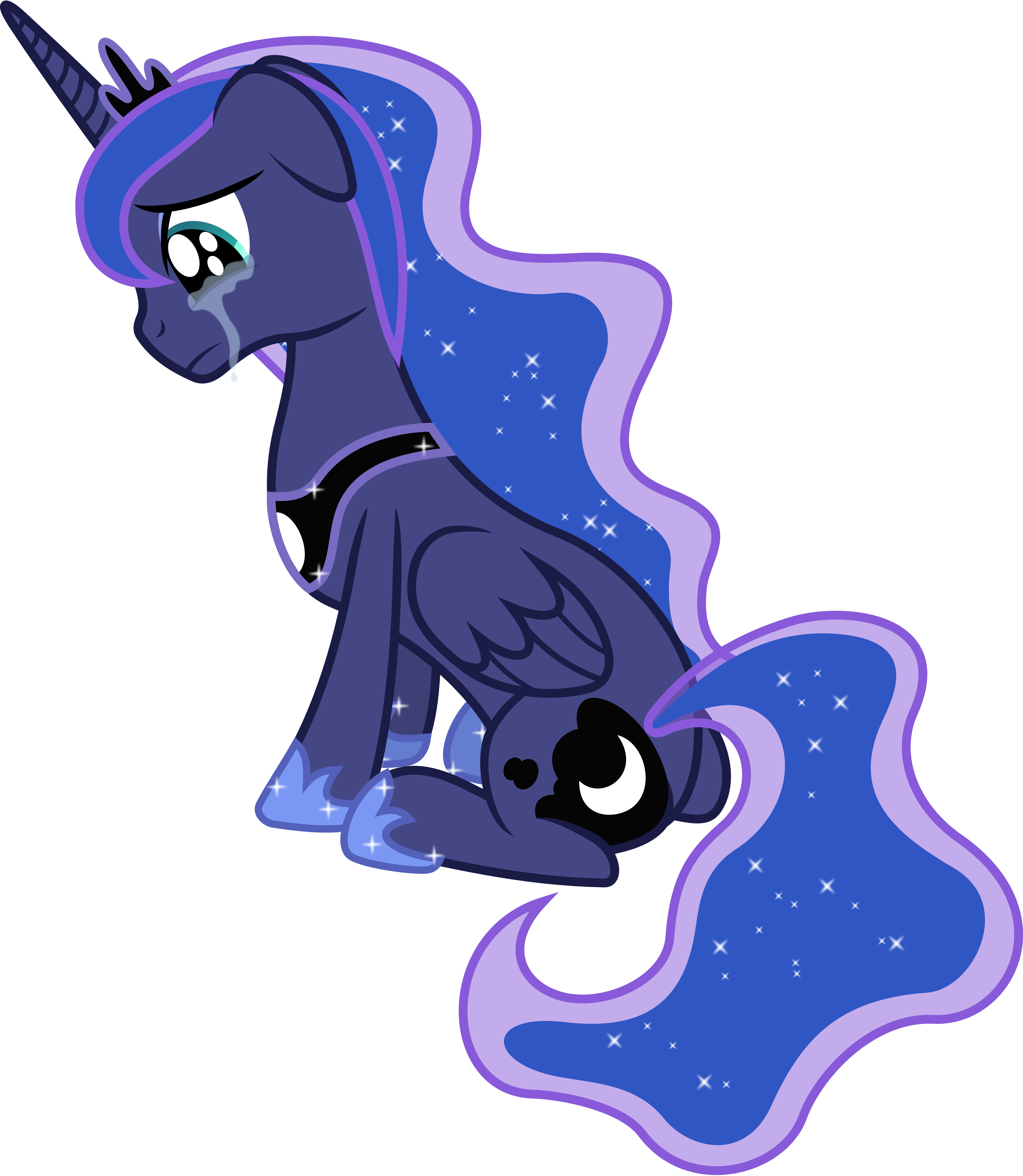 Princess Luna Crying by 90Sigma