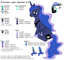 Princess Luna's (Season 2+) Colour Palette