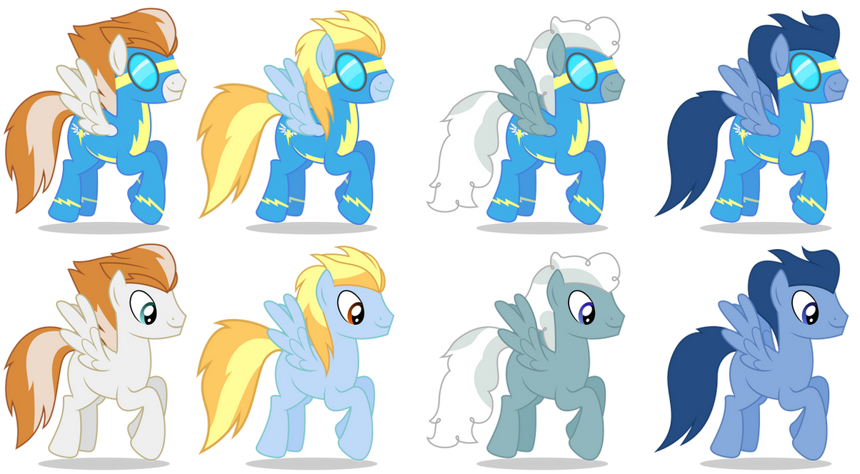 Background Wonderbolts Ponies (Male) by 90Sigma