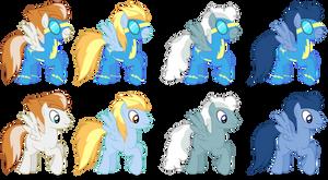 Background Wonderbolts Ponies (Male)