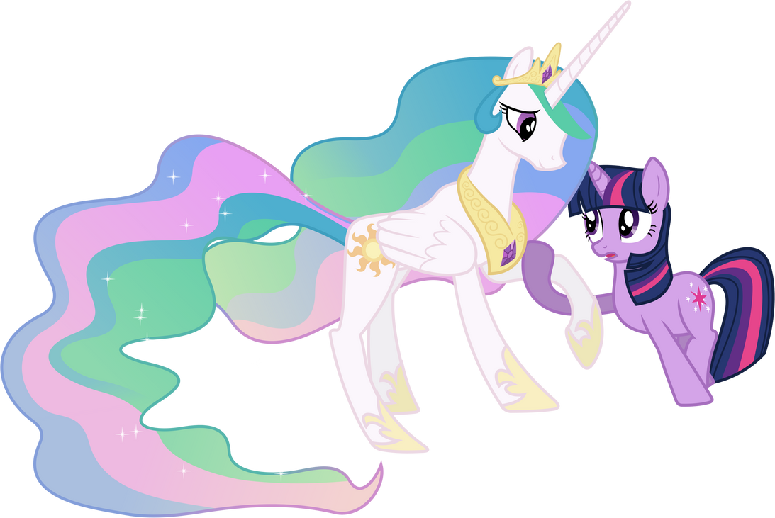 Twilight Sparkle Aids Princess Celestia by 90Sigma