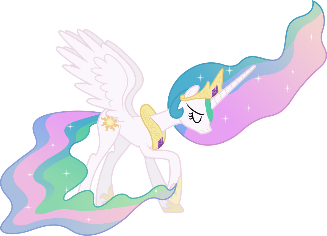 Downcast Princess Celestia by 90Sigma