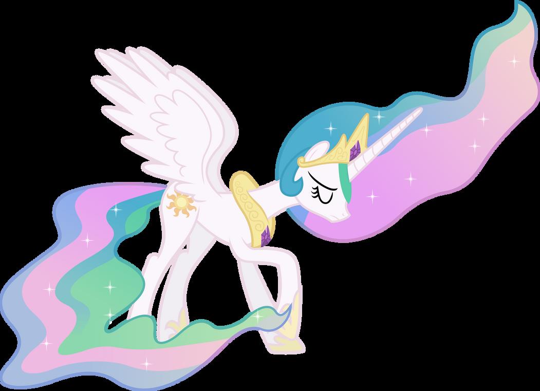 Downcast Princess Celestia by 90Sigma