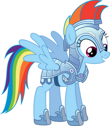Rainbow Dash in Armour by 90Sigma