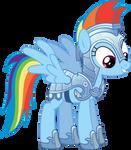 Rainbow Dash in Armour