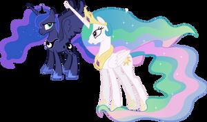 Princess Celestia and Princess Luna Conversing (1)