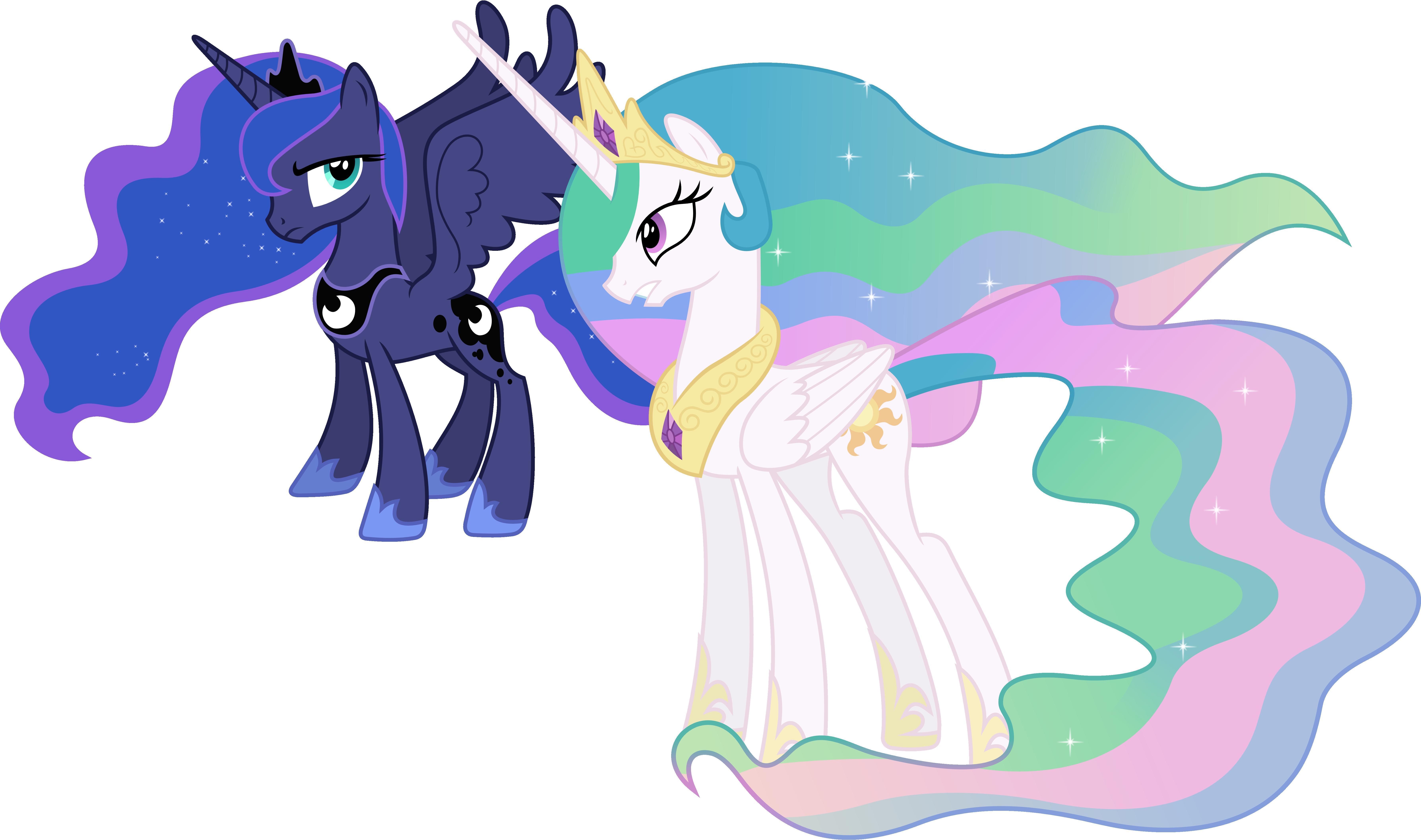 Princess Celestia And Princess Luna Conversing (1) By ...
