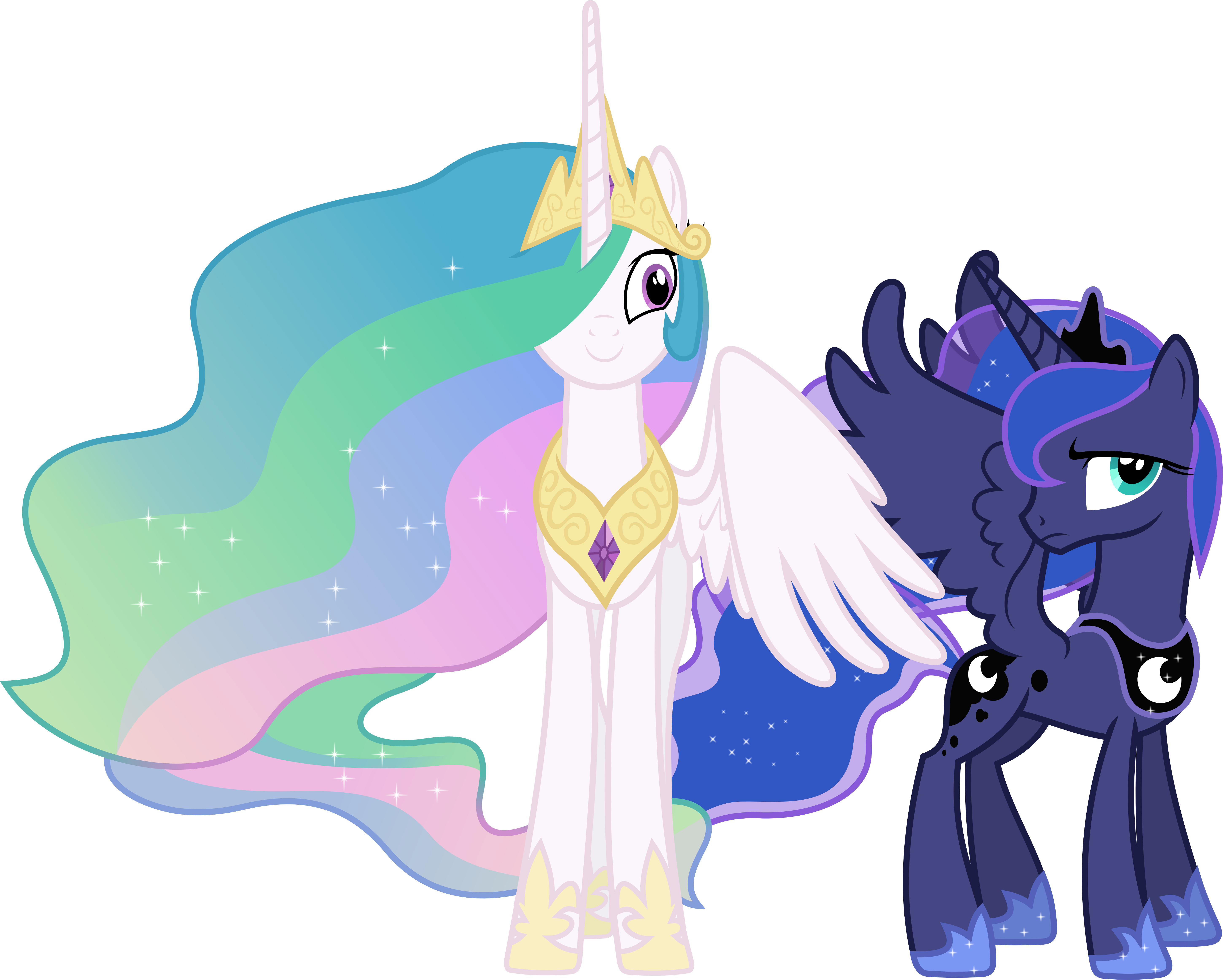 Princess Celestia and Princess Luna Interrupted by 90Sigma