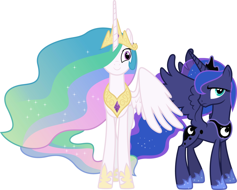 Princess Celestia and Princess Luna Interrupted by 90Sigma