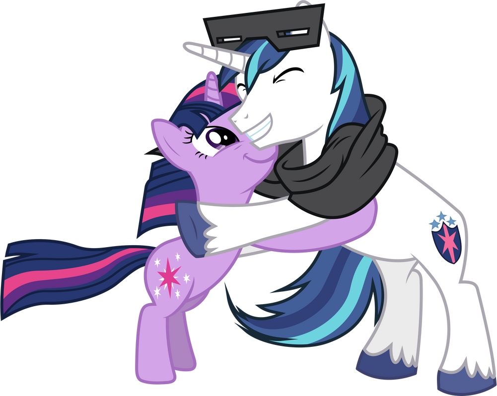 Shining Armour and Twilight Sparkle Hugging (2) by 90Sigma