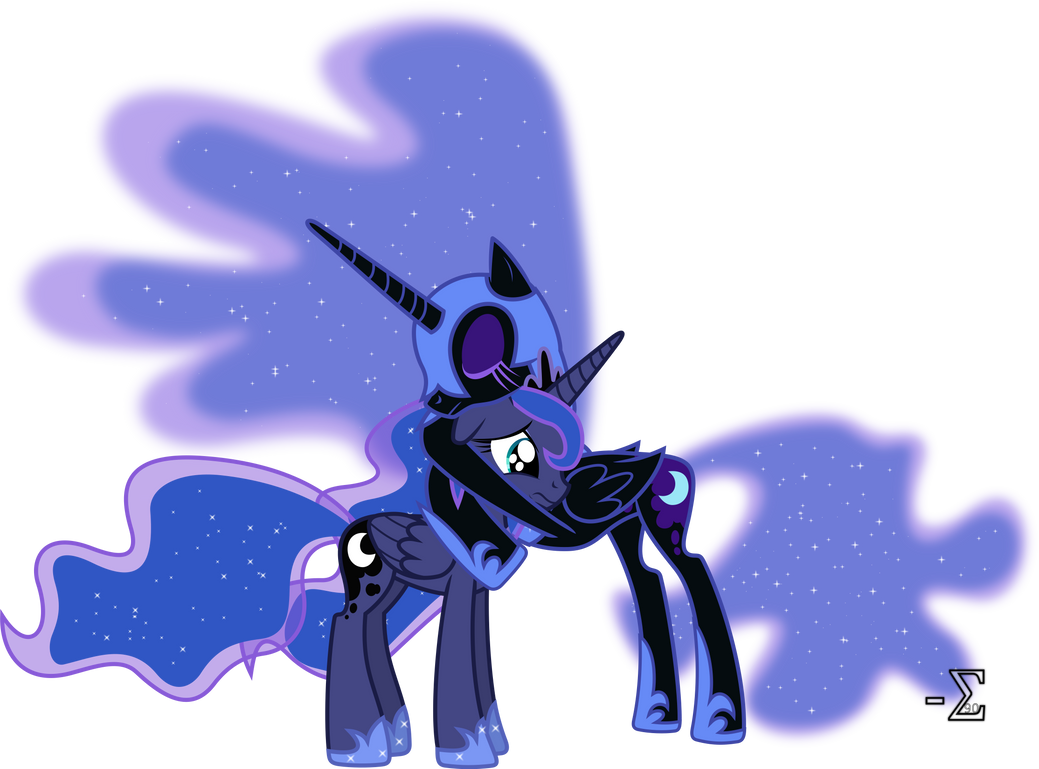 Nightmare Moon Comforts Princess Luna (2) by 90Sigma