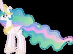 Princess Celestia Gazing Skyward
