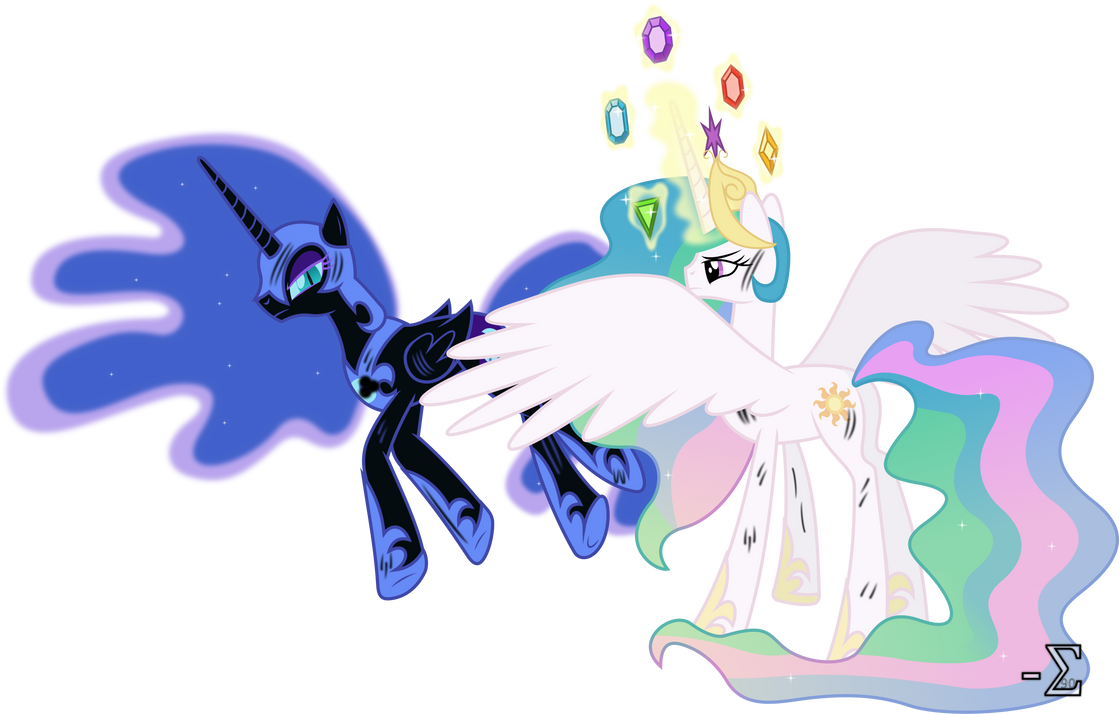 Princess Celestia Defeats Nightmare Moon by 90Sigma