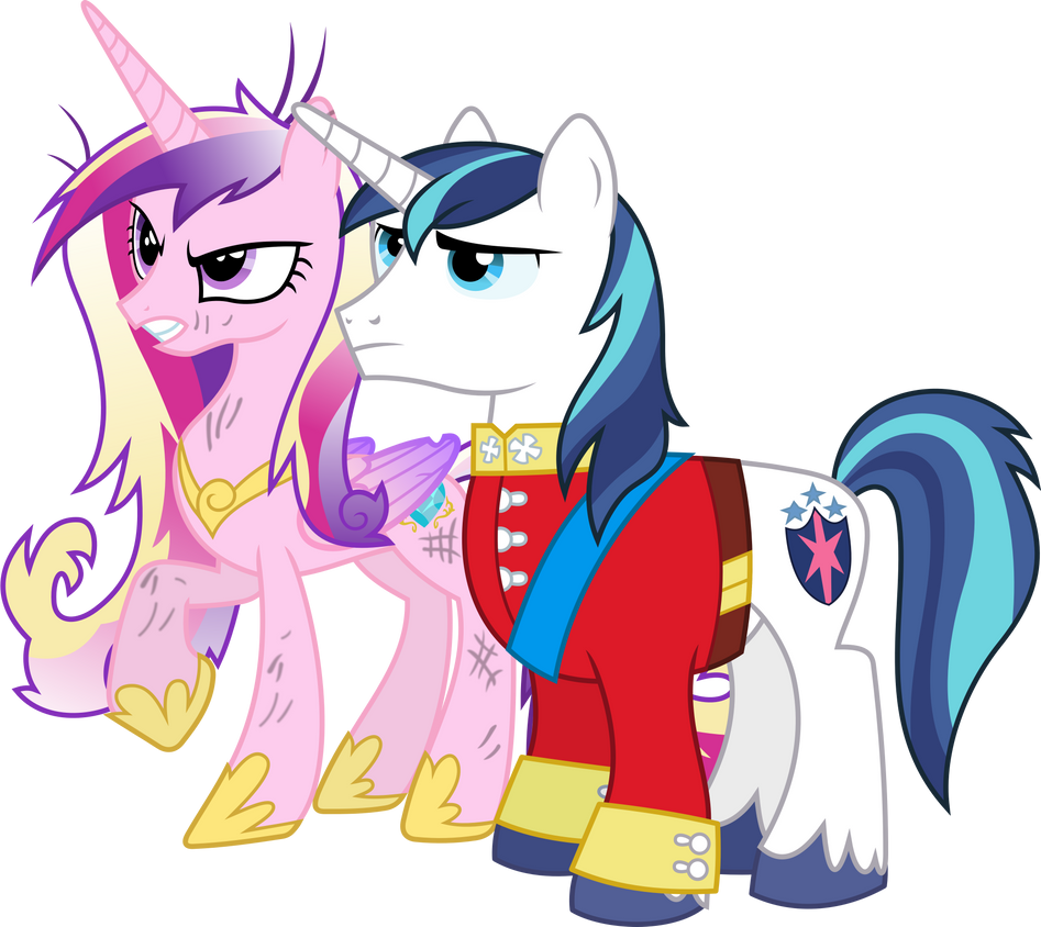 Angry Princess Cadance and Shining Armour by 90Sigma
