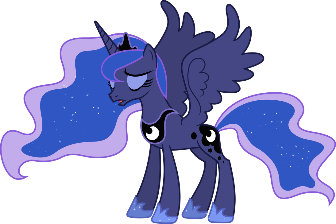 Exasperated Princess Luna by 90Sigma