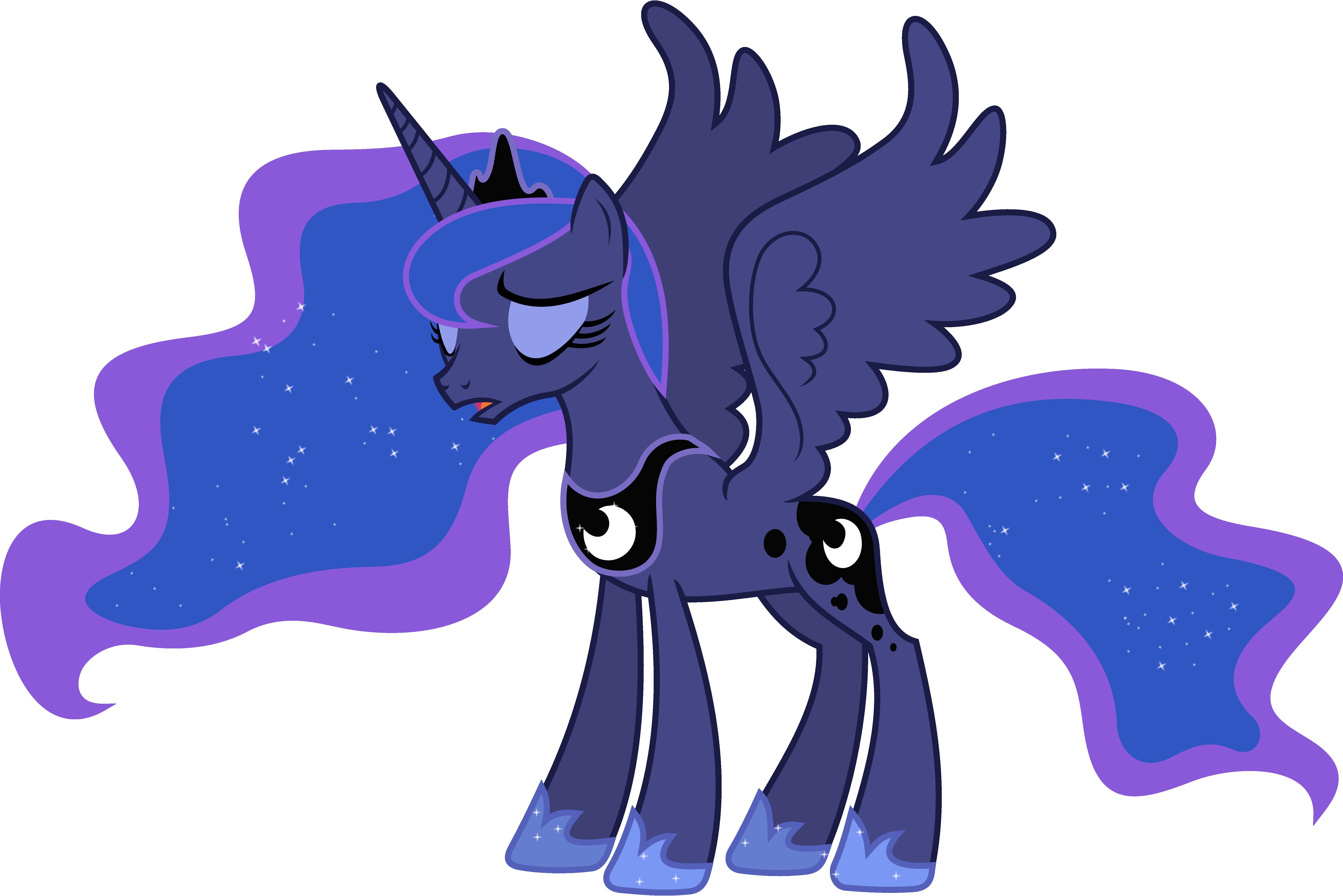 Exasperated Princess Luna by 90Sigma