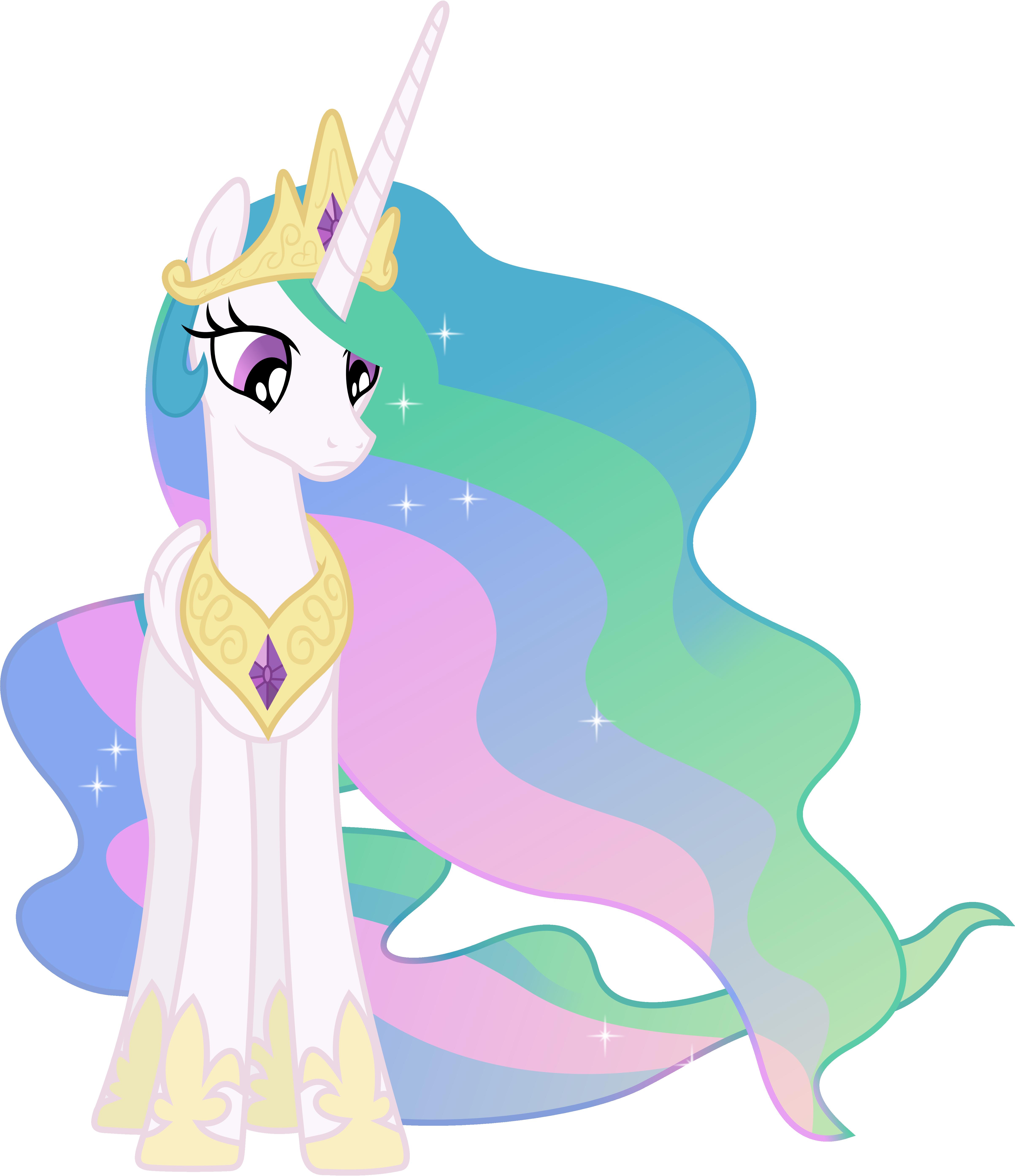 Nonplussed Princess Celestia by 90Sigma