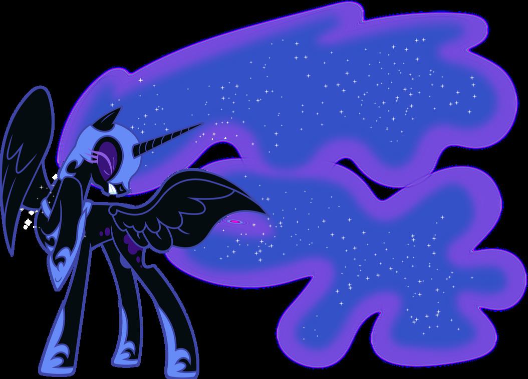 Nightmare Moon Shielding Herself by 90Sigma