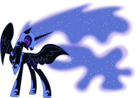 Nightmare Moon Shielding Herself by 90Sigma