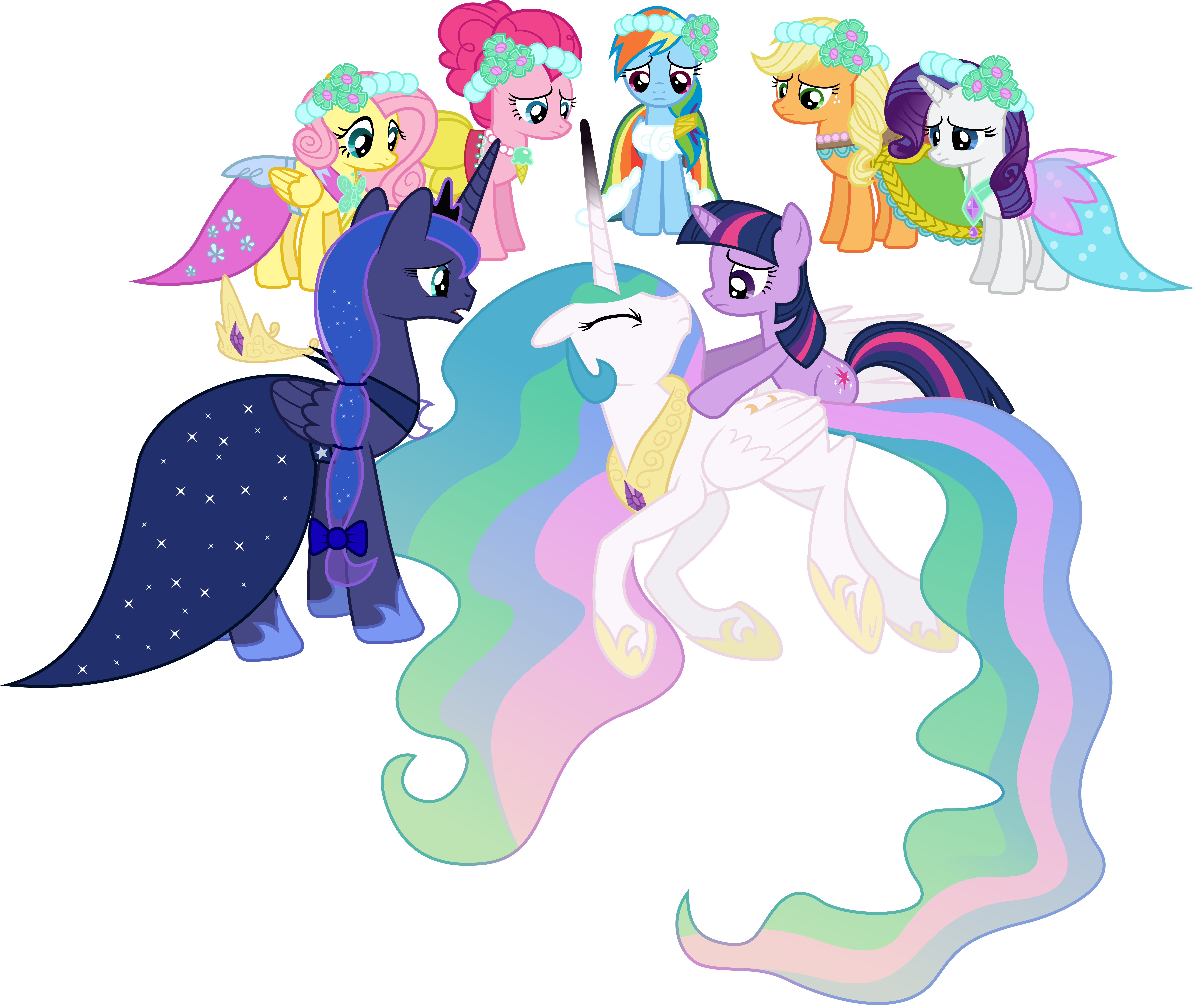 Princess Celestia Defeated Extended By 90Sigma On DeviantArt