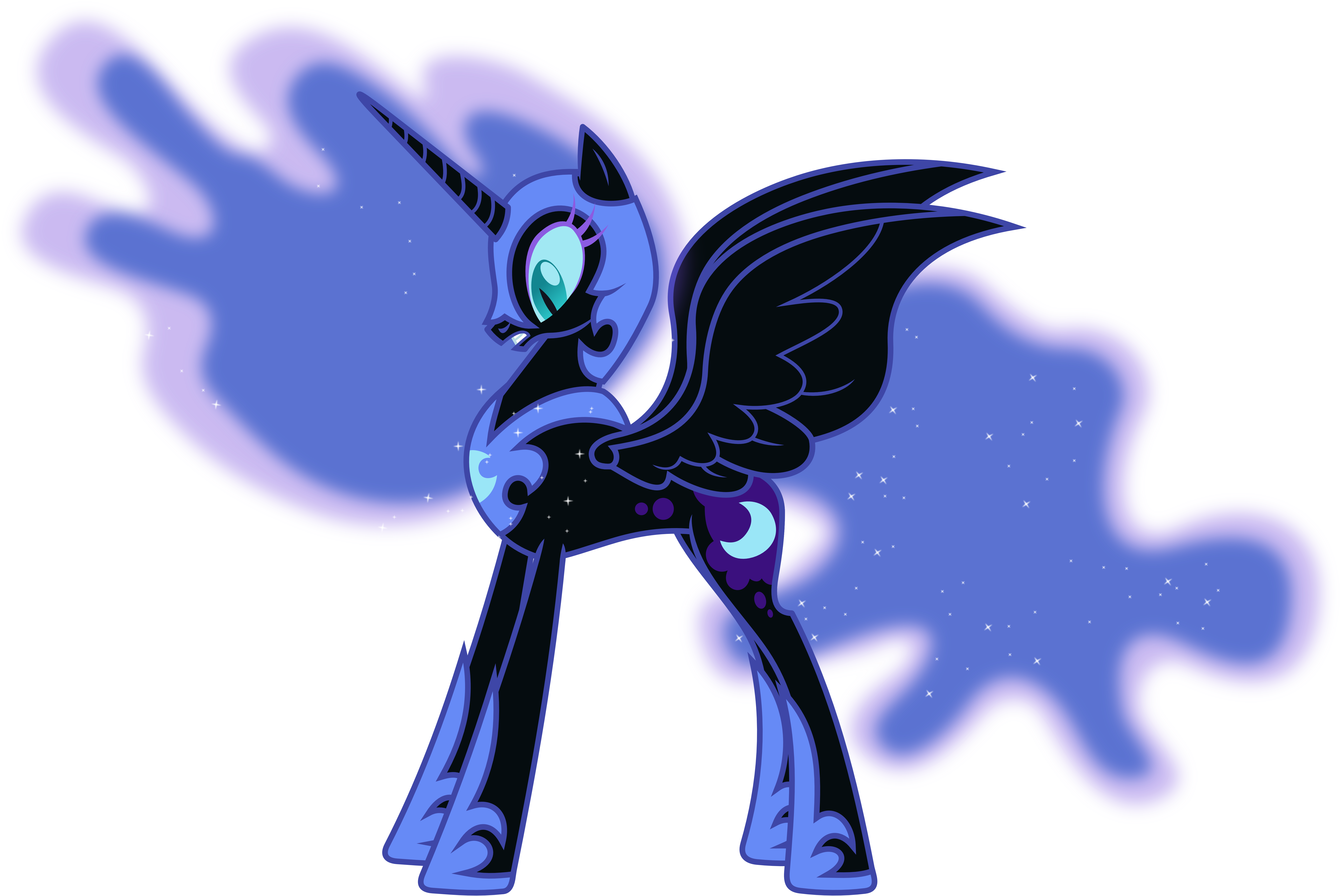 Scared Nightmare Moon (2) by 90Sigma on DeviantArt