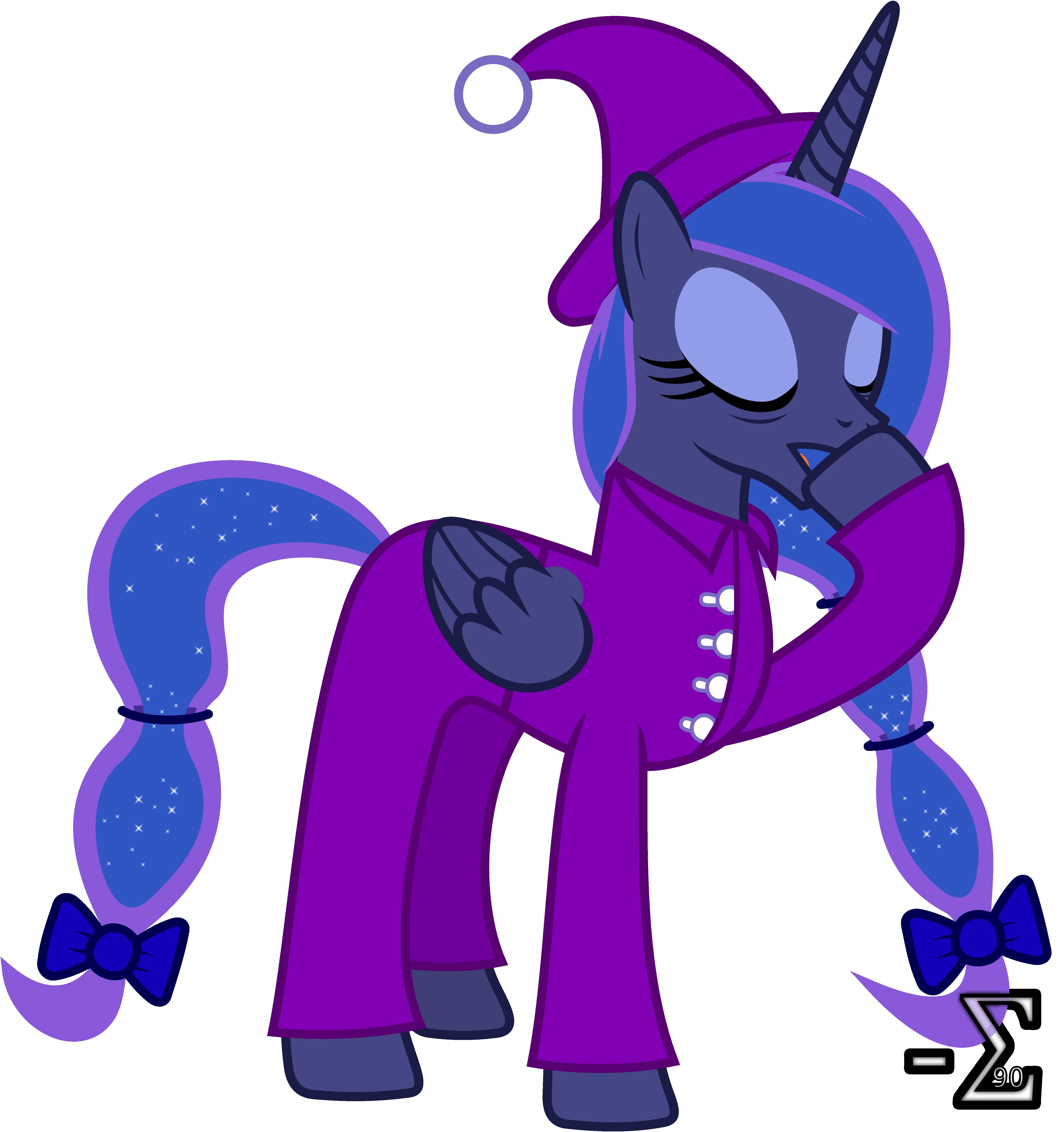 Princess Luna in Pyjamas by 90Sigma