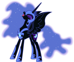 Nightmare Moon Laughing (2) by 90Sigma