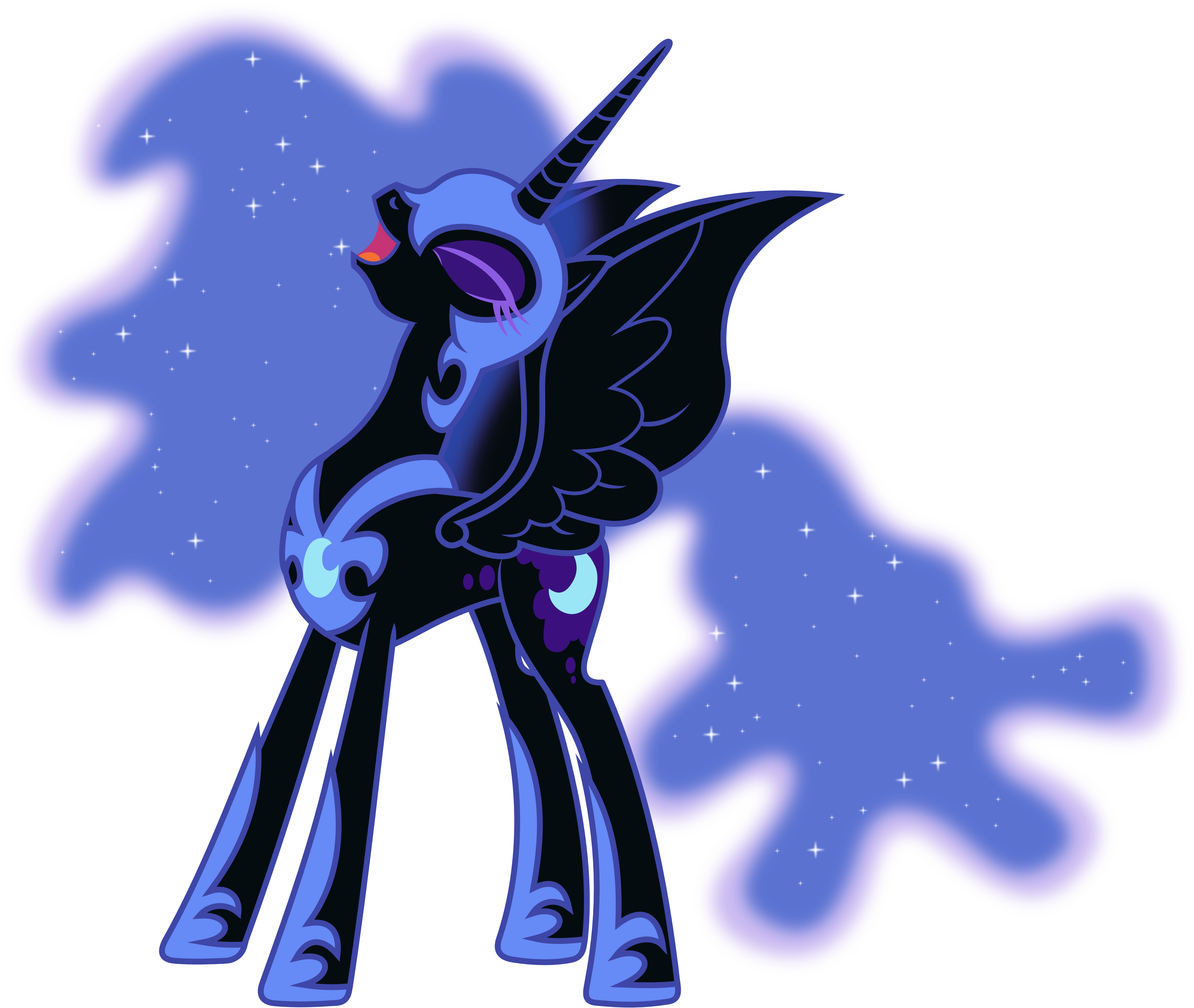 Nightmare Moon Laughing (2) by 90Sigma on DeviantArt