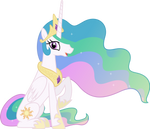 Princess Celestia Sitting Down