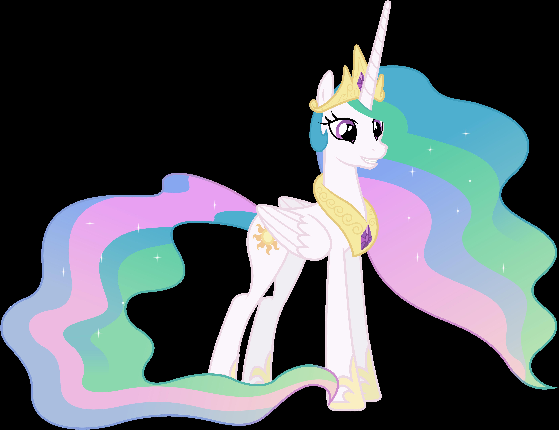 Grinning Princess Celestia (2) by 90Sigma