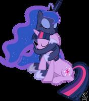 Princess Luna and Twilight Sparkle Cuddling (2)