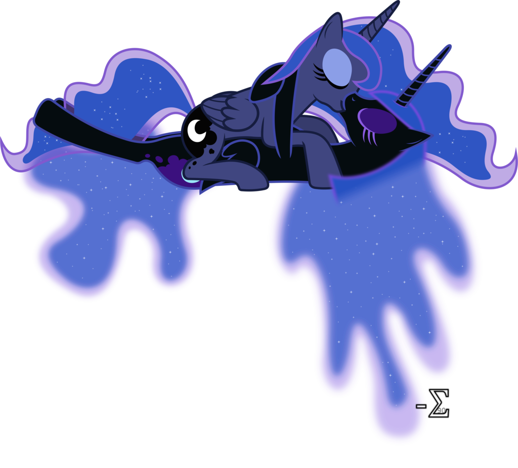 Nightmare and Luna Kissing (5) (Kissing Ver.) by 90Sigma