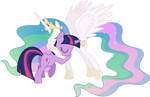 Princess Celestia and Twilight Sparkle Hugging (2)