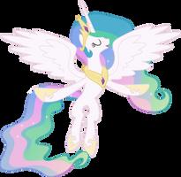 Princess Celestia Flying by 90Sigma