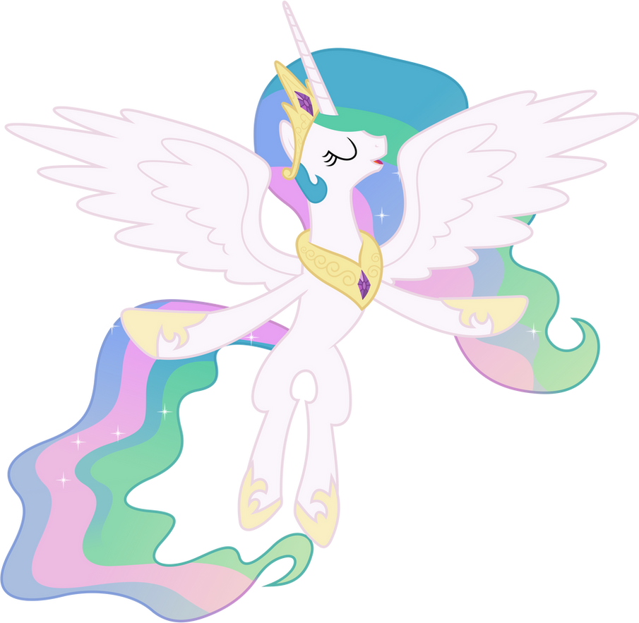 Princess Celestia Flying by 90Sigma on DeviantArt