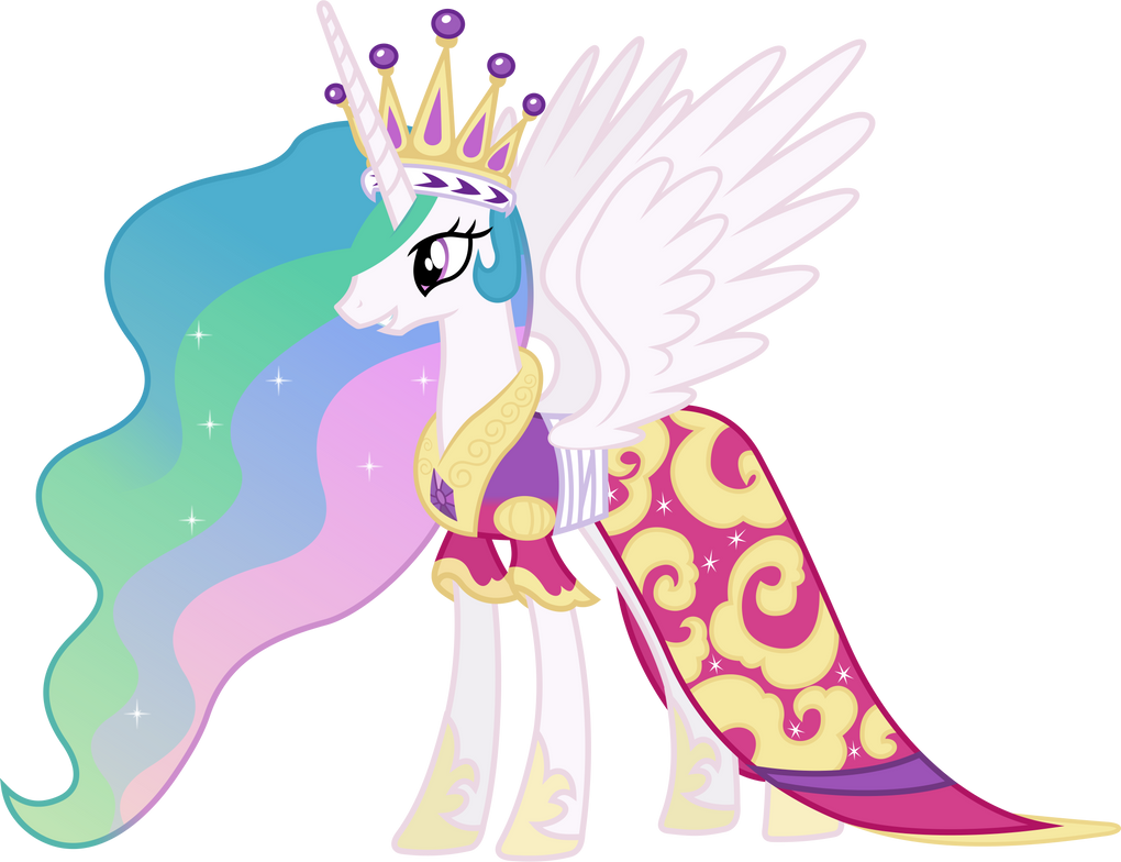 Princess Celestia's Coronation Dress by 90Sigma on DeviantArt