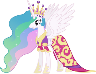 Princess Celestia's Coronation Dress by 90Sigma