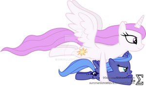 Princess Celestia Takes Princess Luna Flying