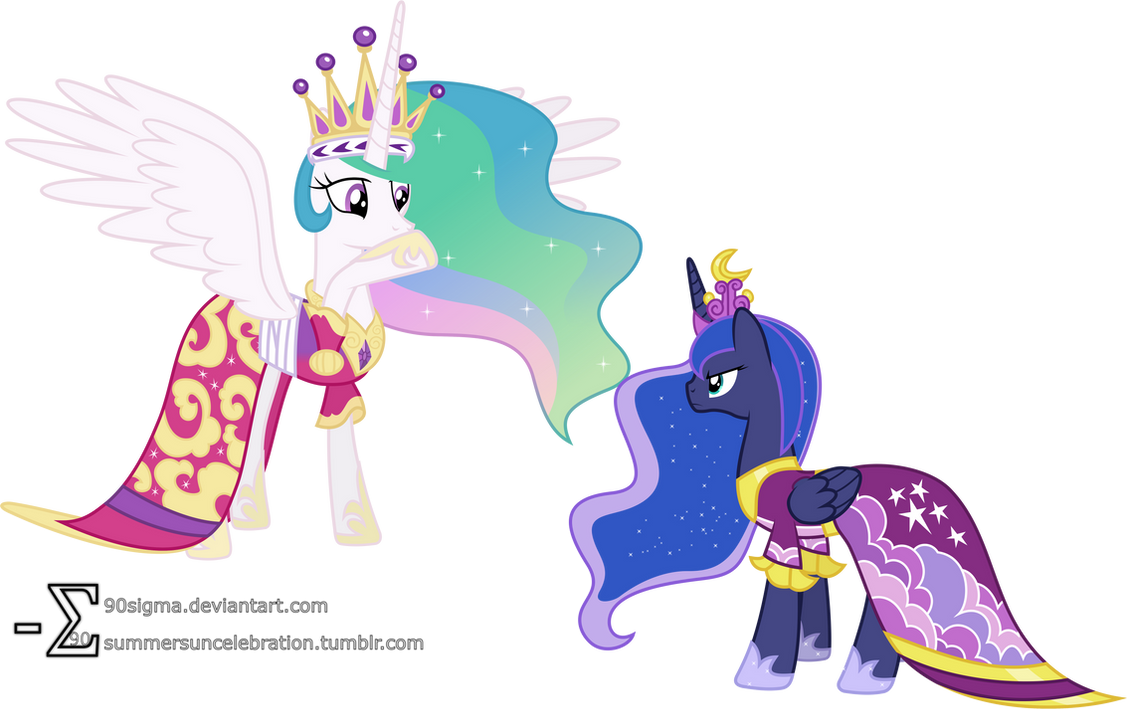 Luna Confronts Celestia Coronation Dresses Ver By